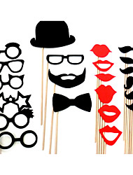 Wedding Décor Funny Mask Beard  Party Photography Photo Booth Props (22 Pieces)