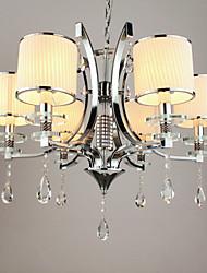 elegante araña de cristal de 6 luz de lujo