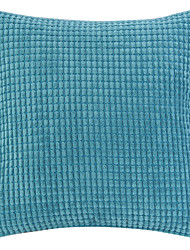 "18 ""Squard Neuheit Plaid Textured Samt Polyester Dekorative Kissenbezug"