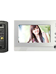 Wired Night Visual Video Door Phone with 7 Inch TFT LCD Photographing Function Monitor