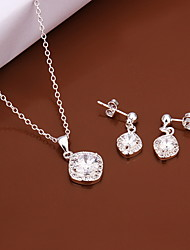 Sweet Silver Plated Copper (Necklaces&Earrings)