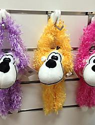 Squeak Soft-Fleece Cotton Orang-Utan-Art Chewing Spielzeug für Haustiere Hunde Katzen (zufällige Farbe)