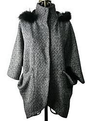 Mengsier Stravaganza vera pelliccia di lana Capispalla Big A1108