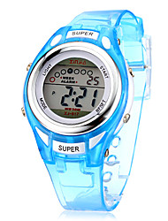 Children's Multifunctional Digital LCD Silicone Band Wrist Watch (Assorted Colors) Cool Watches Unique Watches