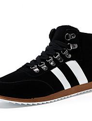 DIVID Мужская Бархатные лодыжки обувь (черный)