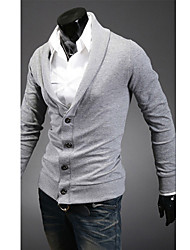 ventas calientes de los hombres chaqueta de punto de manga larga