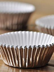 Aluminum Foil Cupcake Wrappers - Set of 100