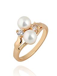 Yueli Frauen-18K Gold Zirkon Ring J1123