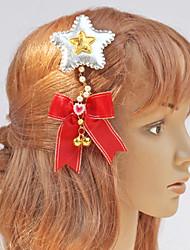 Red Bow et Silver Stars Coiffe de Noël