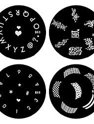 4PCS ногтей штамп штамповка изображения шаблона Серия знак B (NO.53-56)