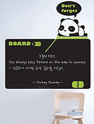 Blackboard adesivos de parede, removível, Panda Teacher for Kids
