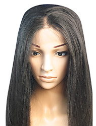 18inch Straight Middle Part Brazilian Remy Hair Full Lace Wig