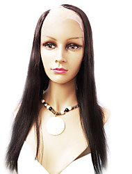 22inch Silky Straight Right Part Indian Remy  Human Hair U Part Wig