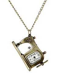 Women's Sewing Machine Style Vintage Alloy Quartz Analog Necklace Watch Cool Watches Unique Watches