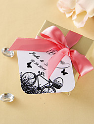 Personalized Favor Tags - Bicycle and Butterfly (set of 36)