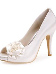 Casamento Stiletto Heel Satin Mulheres Bombas sapatos de salto (mais cores)
