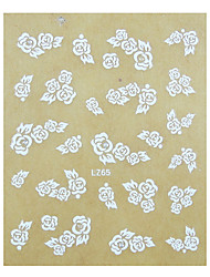 1PCS Rose prego do casamento do teste Art Sticker