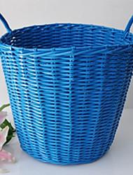 Classic Big Blue Rattan Laundry Basket