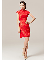 Women's Dresses , Satin Sexy/Cute/Party YHZ