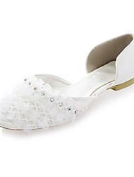 Satin Women's Wedding Flat Heel D'Orsay & Two-Piece Flats