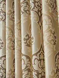 de un panel de lujo modernos jacquard floral cortinas cortinas de ahorro de energía