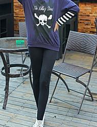 ZH modèle de Simple Star coton Leggings (Noir)