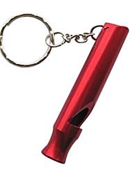 Outdoor Survival alumínio Whistle Keychain (cores sortidas)