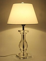 60W E27 Table Lamp with White Shade and Crystal Lamp Carrier