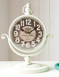 "11""H Iron Retro Style Tabletop Clock"
