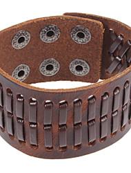 Café le bracelet en cuir de 22cm Punk hommes (café) (1 PC)