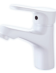 Centerset Single Handle One Hole in Painting Bathroom Sink Faucet