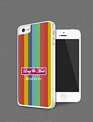 Personalizada cromática de la raya de protección Shell para el iPhone 5