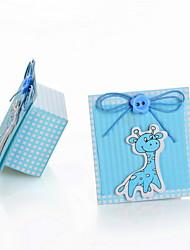 Giraffe Design Favor Box for Baby Shower - Set of 12
