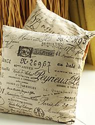 """18 """"Quadrat-Neuheit Baumwolle / Leinen Dekorative Kissenbezug"""