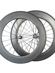 20,5 millimetri Larghezza 88 millimetri 700C carbonio pieno tubolare della bici della strada / Ruote bici