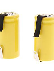ML Ni-Cd 2500mAh batterie rechargeable (1.2V, jaune, 2pcs)