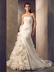 Trumpet/Mermaid Plus Sizes Wedding Dress Court Train Strapless