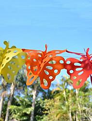 Hochzeitsdeko 3m bunter Schmetterling Papiergirlande (25 Schmetterlinge)