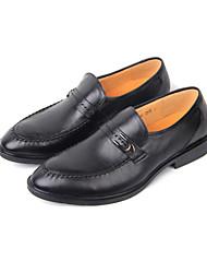 Zapatos de Hombre Boda/Oficina y Trabajo/Fiesta y Noche Cuero Mocasines Negro