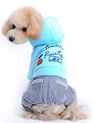 Perros Abrigos / Saco y Capucha / Pantalones Azul / Rosado Invierno Letra y Número