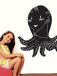 Blackboard sticker mural, amovible, noir Octopus