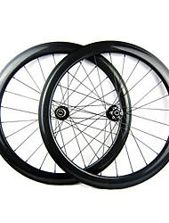 23mm Largeur 50mm 700C pleine de carbone d'enclume Cyclocross frein à disque de vélo / Essieux vélo
