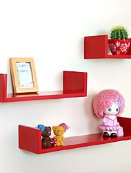 Modern Carbon Fiber Red Creative Hanging Storage Shelf (1 Piece)