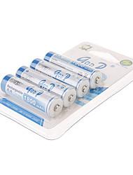 Goop 1800 mAh Rechargeable AA Batteriy (4pcs)