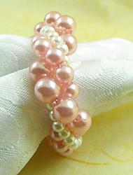 Vertical Style Bracelet perles acryliques Rond de Serviette, Dia4.2-4.5cm Ensemble de 12