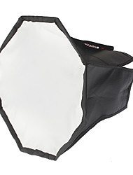 Octangle pliant Flash Speedlight Soft Box (Black + Argent, M-Taille)