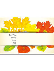 200pcs Personalized 2 Sides Printed Matte Film Maple Leaf Pattern Business Card