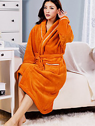 Bath Robe,High-class Woman Yellow Solid Colour Garment Thicken
