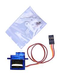 9G Mini Servo mit Zubehör - Translucent Blue