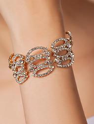Avec strass bracelet élégant en alliage des femmes (plus de couleurs)